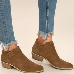 Steve Madden Tan Tobii Genuine Suede Ankle Boots